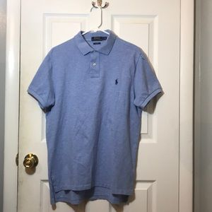 Blue | Custom Fit | Large Polo Shirt